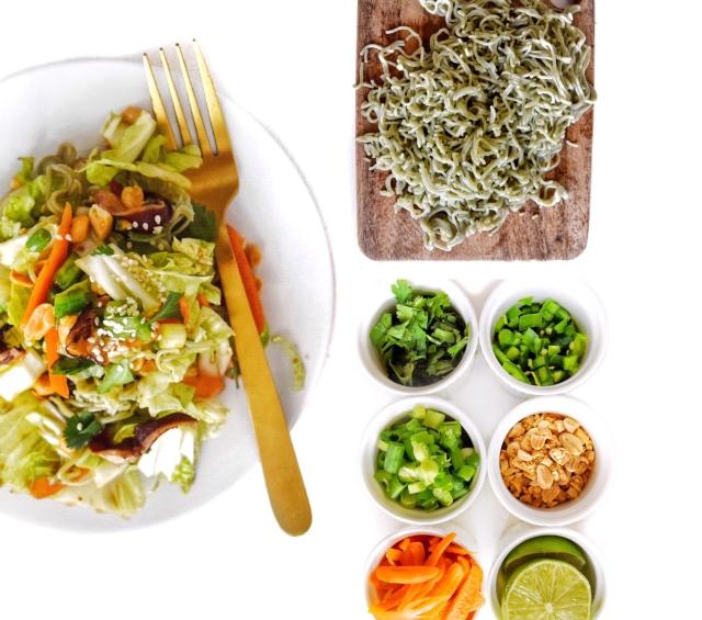 asian noodle salad cover